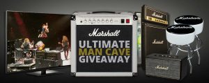 American Musical Supply – Marshall Ultimate Man Cave – Win Marshall Man Cave package valued at $3,600
