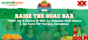 Avocados From Mexico – 2017 Tastiest Tailgate – Win a grand prize of a trip for 2 to the college football bowl game in Pasadena OR a minor prize