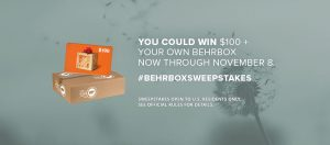 BEHR – #BEHRBox – Win 1 of 5 prizes of $100 Home Depot Gift Card & a Color Trends themed #BEHRBox valued at $264 each