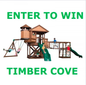 Backyard Discovery – Win a Timber Cove Swing Set including Installation valued at $2,699