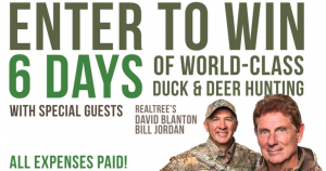 Banded – Mallard Ducks and Big Bucks Super Hunt  Classic – Win a hunting experience for 2 in Louisiana valued at $15,000