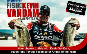 Bassmaster – Fish with Kevin Vandam – Win a trip package valued at $45,000