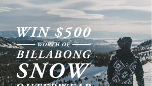 Billabong – Win a brand new Salomon Snowboard PLUS $500 to spend on Billabong.com