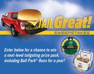 Bimbo Bakeries – Ball Park Buns Tailgreat – Win a grand prize valued at $958 OR 1 of 5 minor prizes