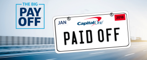 Capital One – Auto Finance Big Payoff (Account Holders) – Win a grand prize valued at up to $80,000 OR 1 of 103 minor prizes