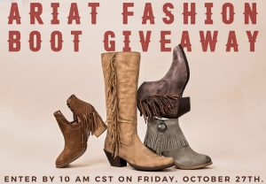 Cavender's – Ariat Fashion Boot – Win 1 of 3 prizes of 4 Ariat women's fringe fashion boots valued up to $629