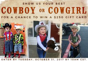 Cavender's – Halloween  Costume – Win 1 of 5 Cavender's gift cards