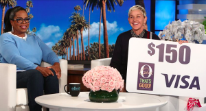 Ellen Tube – Win a $150 Visa Gift Card & $100 Coupon for Oprah's brand new food line 'O'