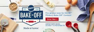 General Mills – 48th Pillsbury Bake-off – Win a grand prize valued at $92,000 OR 1 of 5 other minor prizes