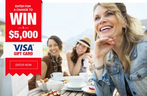 Johnson & Johnson – Healthy Essentials Program Celebrate Your Age with RoC – Win a grand prize of a $5,000 Visa Gift Card OR 1 of 105 minor prizes