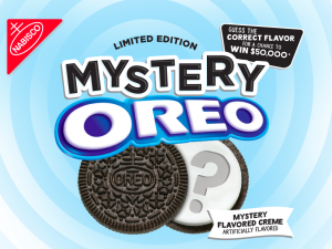 Mondelez Global – Mystery Oreo – Win a grand prize of a $50,000 check OR 1 of 5 minor prizes of a $10,000 check each