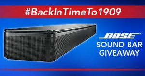 P.C. Richard & Son – #BackInTimeTo1909 Bose Sound Bar – Win a prize valued at $699