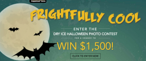 Penguin Dry Ice – Frightfully Cool Halloween – Win a grand prize of $1,500 Visa gift card OR 1 of 4 minor prizes