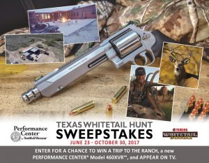 Performance Center- Texas Whitetail Hunt – Win a prize package valued at $4,800