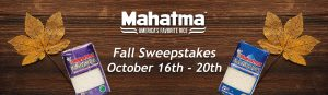 Riviana Foods – Mahatma Rice Fall – Win 1 of 25 prize packs of Mahatma Rice valued at $25 each