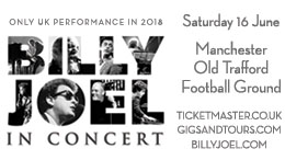 SiriusXM – Billy Joel in Manchester, England – Win a trip for 2 to Manchester, England PLUS more valued at $4,500