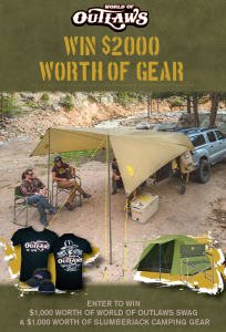 Slumber Jack – Win $1,000 worth of World of Outlaws swag & 1,000 worth of SJK camping gear