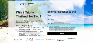 Society19 Media – Win a dream trip for 2 to Thailand valued at $4,000