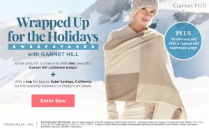 Traditional Home – Wrapped Up for the Holidays – Win a grand prize of a trip for 2 to Palm Springs, California OR 1 of 10 minor prizes