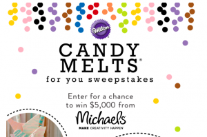 Wilton Industries – Candy Melts for You – Win a grand prize of $5,000 cash OR 1 of 30 minor cash prizes and Michaels gift cards