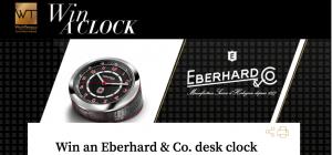 WorldTempus – Win an Eberhard & Co. Desk Clock valued at CHF$1,000