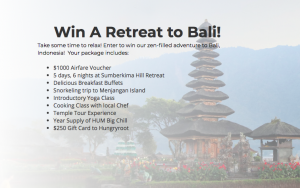 Acanela – Retreat to Bali – Win a trip prize package valued at $5,000