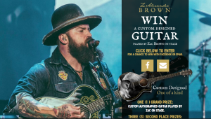 Alexander Brown Wines – Win a Custom Autographed guitar played by Zac on stage OR 1 of 3 minor prizes