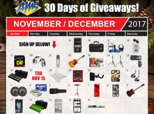 American Musical Supply – 30 Days of Giveaway – Win 1 of 30 prizes