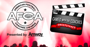 Amway – AFCA Awards Cameo with the Coaches – Win a trip for 2 to Charlotte, NC to attend the AFCA Awards valued at $3,500.png