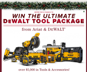 Ariat International – DeWalt Tool Package – Win a grand prize package valued at $5,845.png