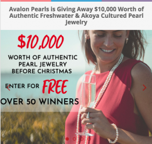 Avalon Pearls – Holiday Giveaway – Win a grand prize valued at $2,999 OR 1 of 55 minor prizes