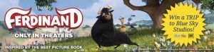 Books-A-Million – VIP Tour of The Blue Sky Studios in NYC with Ferdinand – Win a trip for 4 to NYC valued at $4,995
