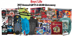 Boys' Life – 2017 Annual Gifts & Gear – Win a prize package valued at $1,725