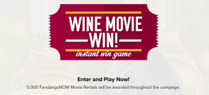 Cameron Hughes Wine – Movie Win – Win 1 of 5,000 FandangoNOW Promotional Code valued at $5 each