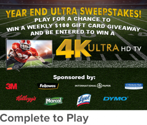 Cataboom – Year End Blowout – Win a grand prize of a 65″ 4K High Definition TV OR 1 of 13 Instant Win prizes