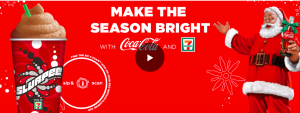 Coca-Cola and 7-eleven – Holiday Slurpee – Win a grand prize of a $100,000 check OR 1 of 8 minor prizes