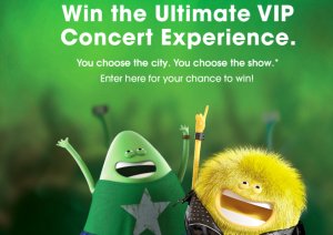 Cricket Wireless – Consumer Choice flyway – Win a trip for 2 to attend a concert provided by Live Nation valued at $4,000