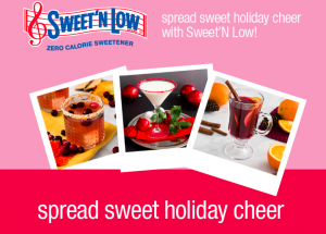 Cumberland Packing – Sweet'N Low Spread Sweet Holiday Cheer – Win a grand prize valued at $435 OR 1 of 42 Daily prizes & 1 of 12 Weekly prizes