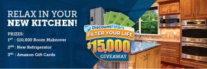 Discountfilters – Filter Your Life Home Makeover – Win a $10,000 Room Makeover OR 1 of 21 minor prizes