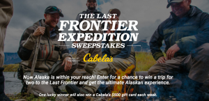 Discovery Communications – The Last Frontier Expedition – Win a grand prize of an 11-day Alaskan Cruise for 2 OR 1 of 5 minor prizes