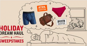 Duluth Trading Company – Holiday Dream Haul – Win 1 of 15 prizes