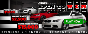 ECS Tuning – Customer Appreciation – Win a grand prize of a $15,000 ECS Gift Card OR 1 of 227 minor prizes