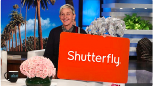 Ellen Tube – Win a $250 Shutterfly Gift Card