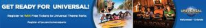 F.Y.E. – Universal Parks – Win 1 of 10 prizes of Four (4) 2-Park 1-Day Park-to-Park tickets for 4 to Universal Orlando Resort in Orlando, Florida