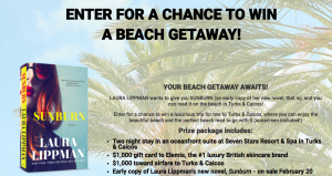 HarperCollins Publishers – Beach Getaway – Win a prize package valued at $3,226
