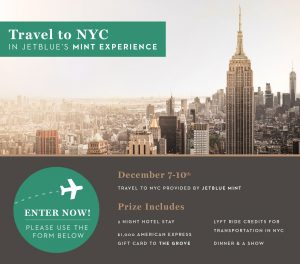 JetBlue – Holiday Getaway – Win a trip for 2, 3-night accommodations, a $1,000 gift card and more