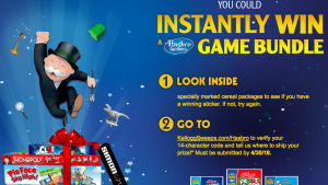 Kellogg's – Hasbro Family Game Time – Win 1 of 10,000 Instant Win game prizes valued at over $99 each
