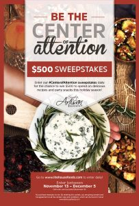Litehouse – Center of Attention – Win $500 for all your holiday entertaining needs