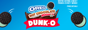 Mondelez Global – Oreo Hot Chocolate Dunk-O at 7-Eleven – Win 1 of 10 HD TVs OR 1 of 10 Instant Win Game prizes of 7-Eleven gift cards