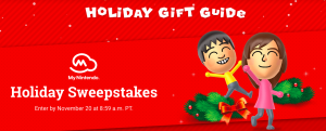 Nintendo of America – 2017 Holiday – Win 1 of 8 prize packages